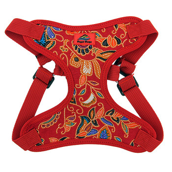 Wrap and Snap Choke Free Dog Harness - Tahiti Red