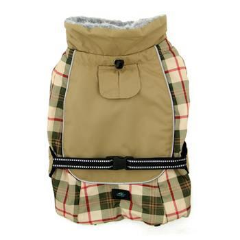 Alpine All-Weather Dog Coat - Beige Plaid