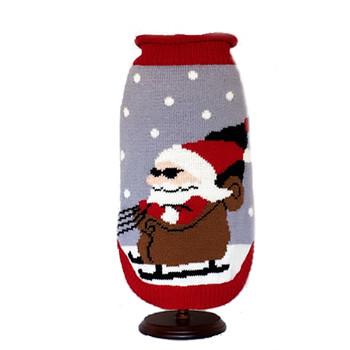 Santa in Sunglasses Dog Sweater