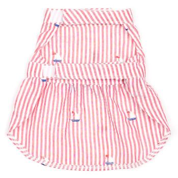 Red Stripe Sailboats Pet Dog Dress - Small - Big Dog