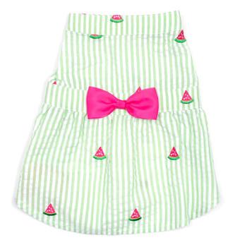 Green Stripe Watermelon Pet Dog Dress - Small - Big Dog