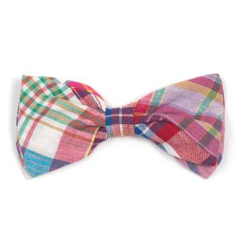 8e3f7ac1055 Bright Patch Madras Pet Dog Bow Tie