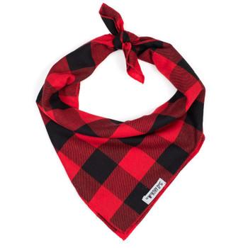 Red Buffalo Large Plaid Dog Tie Bandana