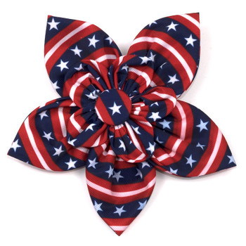 Stars and Stripes Pet Dog Collar Flower