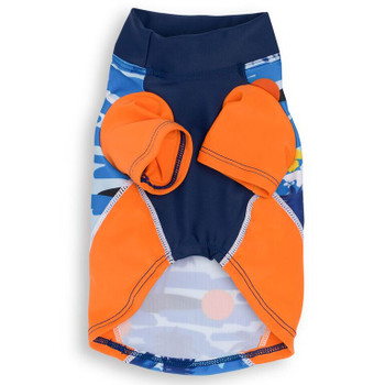 Tropical Blazing Island Sun Protective Lightweight Dog Shirt - Rash gard
