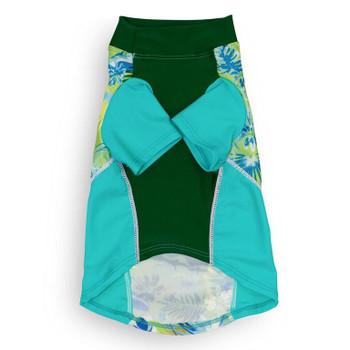 Tropical Treasure Green Sun Protective Lightweight Dog Shirt - Rash gard