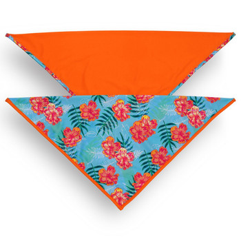 Dog Bandana 2-Pack - Tropical Floral Blue / Tagate