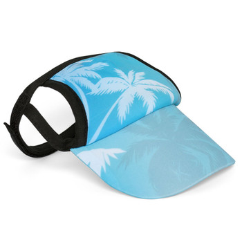 Palm Tree Blue Sun Protective Dog Visor Hats
