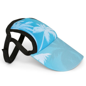 Palm Tree Blue Sun Protective Dog Visor Hats