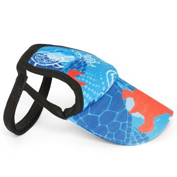 Flaming Blue Tuga Sun Protective Dog Visor Hats