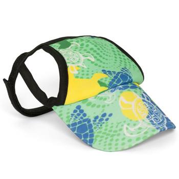 Paradise Green Tuga Sun Protective Dog Visor Hats