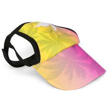 Palm Tree Pink Sun Protective Dog Visor Hats