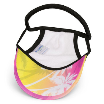 f5139cce583 Palm Tree Pink Sun Protective Dog Visor Hats