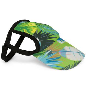Tropical Treasure Green Sun Protective Dog Visor Hats