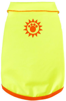 Solar Care & Sunscreen Dog Tank - Neon Yellow