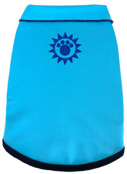 Solar Care & Sunscreen Dog Tank - Turquoise