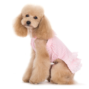 Pink Halter Woven Dog Dress