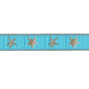 Aqua Starfish 3/4 & 1.25 inch Dog Collar, Harness, & Leash