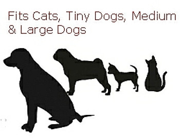 Fits Cats, Tiny Dogs, Medium & Large Dogs