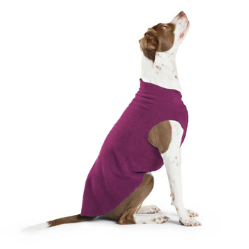 Gold Paw Stretch Fleece - Eggplant