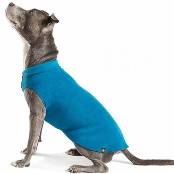 Gold Paw Stretch Fleece - Marine Blue