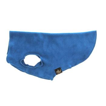 Gold Paw Stretch Fleece - Marine Blue