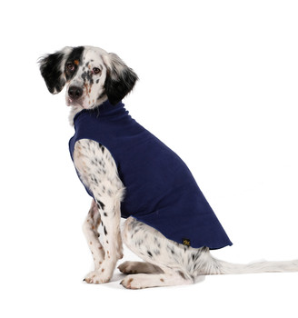 Gold Paw Stretch Fleece - Navy