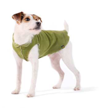 Gold Paw Stretch Fleece - Moss