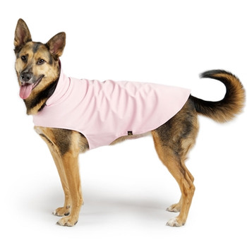 Gold Paw Stretch Fleece - Pale Pink