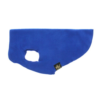 Gold Paw Stretch Fleece - Cobalt Blue