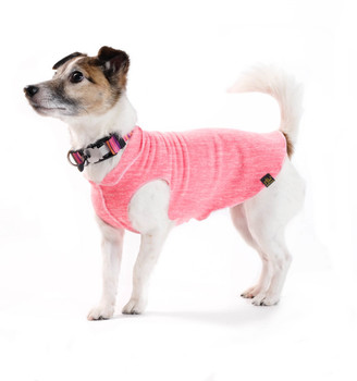 Sun Shield Pet Dog Tee - Coral Heather