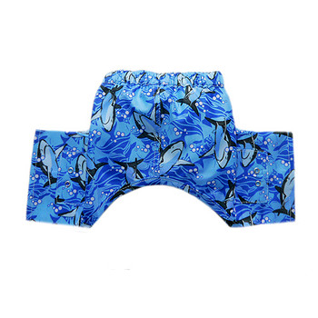 Blue Shark Dog Swim Trunk or Board Shorts