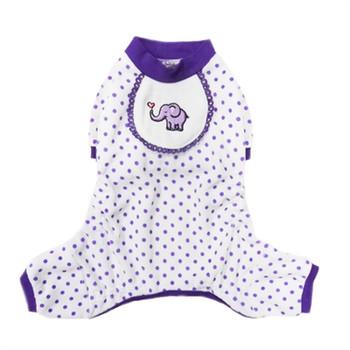 Purple Elephant Dog Pajamas