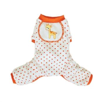 Orange Giraffe Dog Pajamas