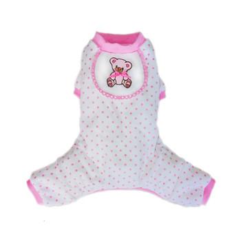 Pink Teddy Dog Pajamas