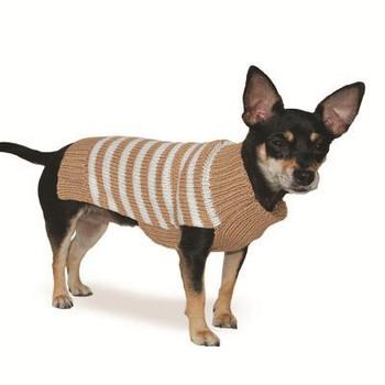 Beige Stripy Lover Dog Sweater