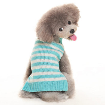 Blue Stripy Lover Dog Sweater