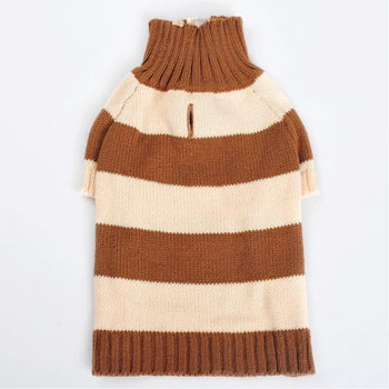 Sporty Stripe Dog Sweater - Brown