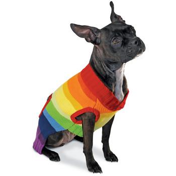 Rainbow Stripe Dog Sweater
