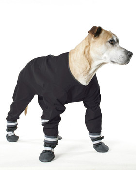 Dog Jog Rain Suit  - Black