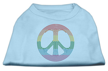 Baby Blue Rainbow Peace Dog Tank