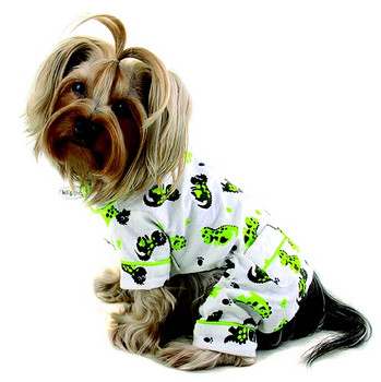 Playful Dinosaur Cotton Flannel Dog Pajamas