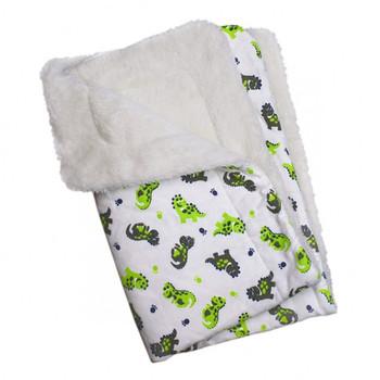 Playful Dinosaur Cotton Flannel Dog Pajamas & Optional Blanket