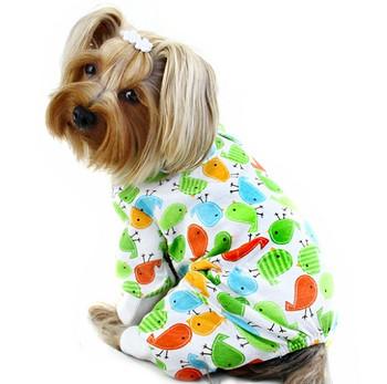 Early Birdies Cotton Knit Dog Pajamas