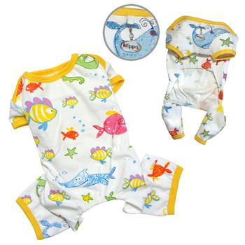 Ocean Pals Cotton Knit Dog Pajamas