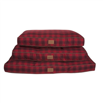Red Ombre Plaid Pet Napper Pendleton Dog Bed