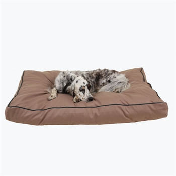 Indoor / Outdoor Faux Gusset Jamison Dog Bed - Tan