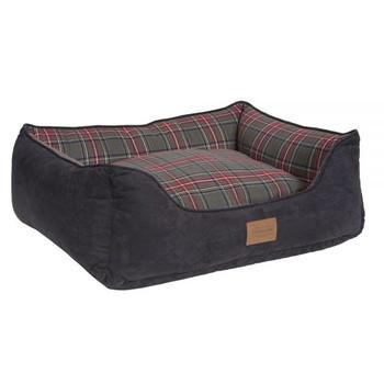 Grey Stewart Tartan Kuddler Dog Bed