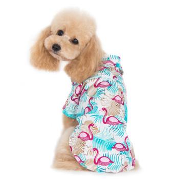 Flamingo Tropical Dog Camp Shirt