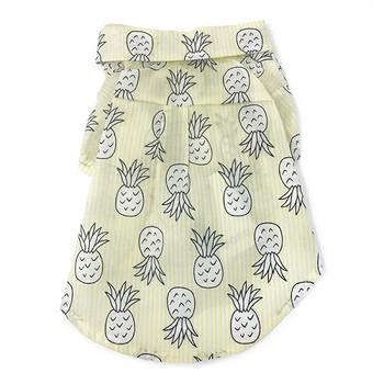 Pineapple Tropical Yellow Dog Camp Shirt